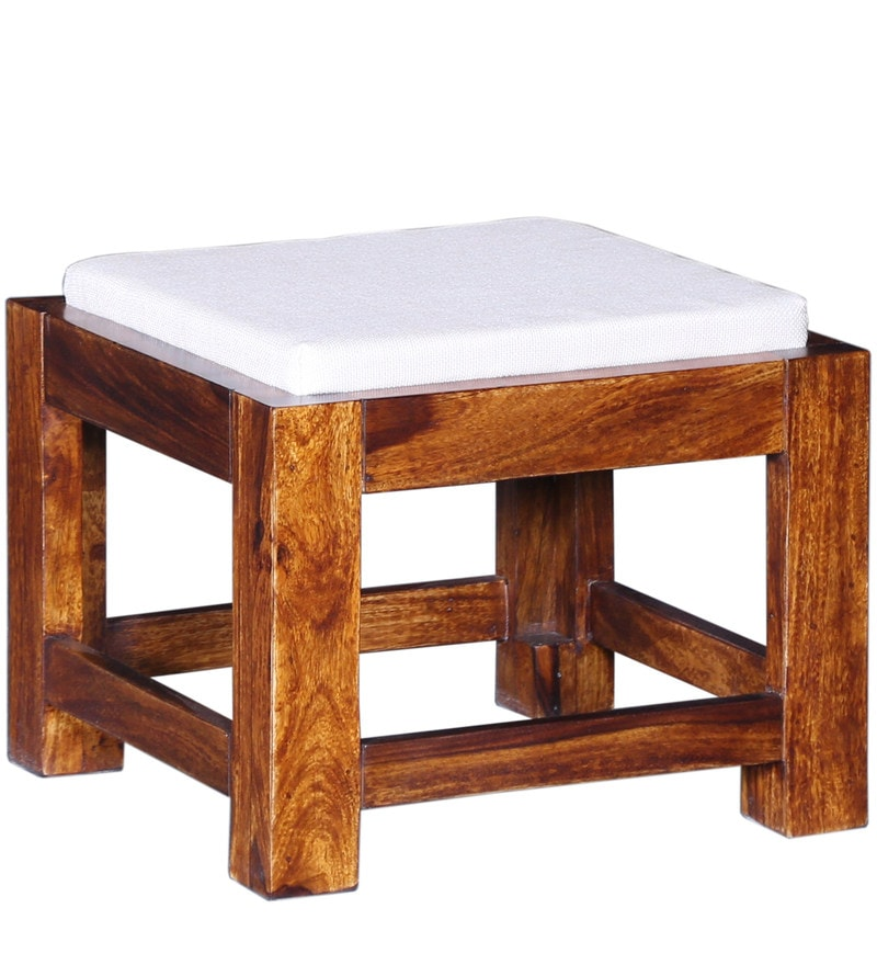 Buy Oriel Solid Wood Coffee Table Set With Four Stools In