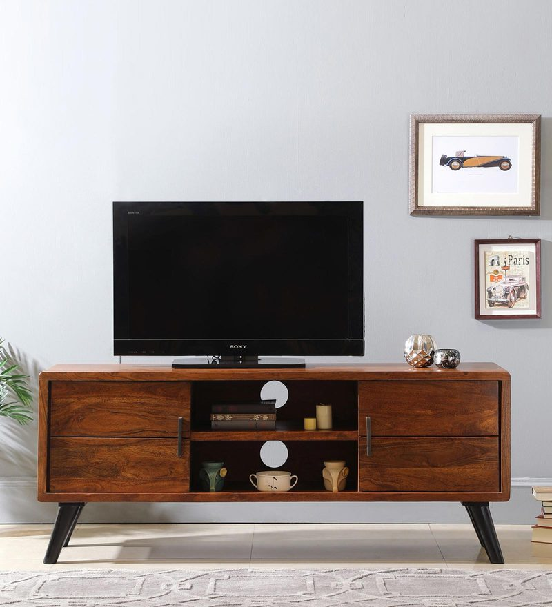 Buy Colmar Tv Unit In Walnut Finish By The Armchair Online Contemporary Tv Units Tv Units