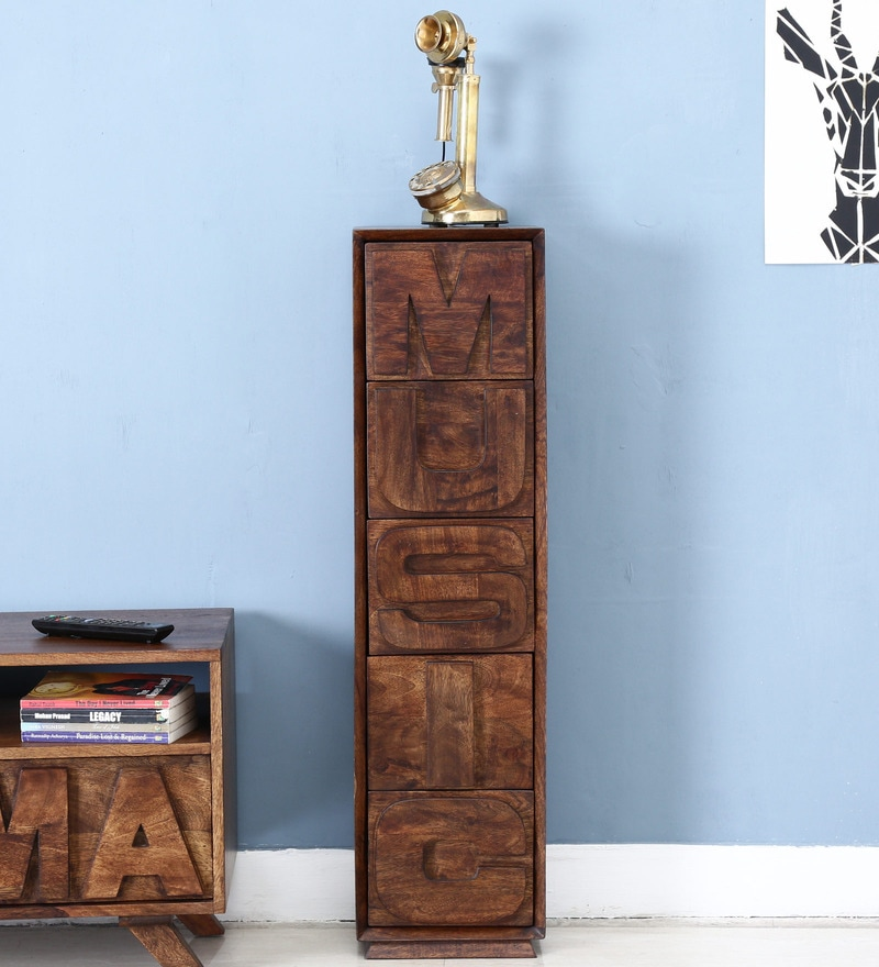 Colomac Chest of Drawers in Provincial Teak Finish by Bohemiana