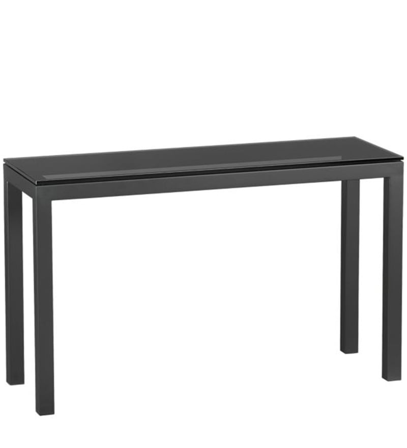 Console Table with Black Glass Top by Asian Arts