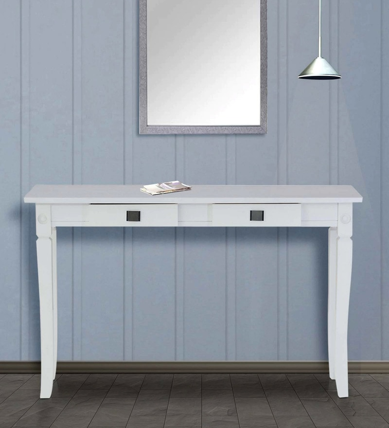 Console Table in White Finish by Marco