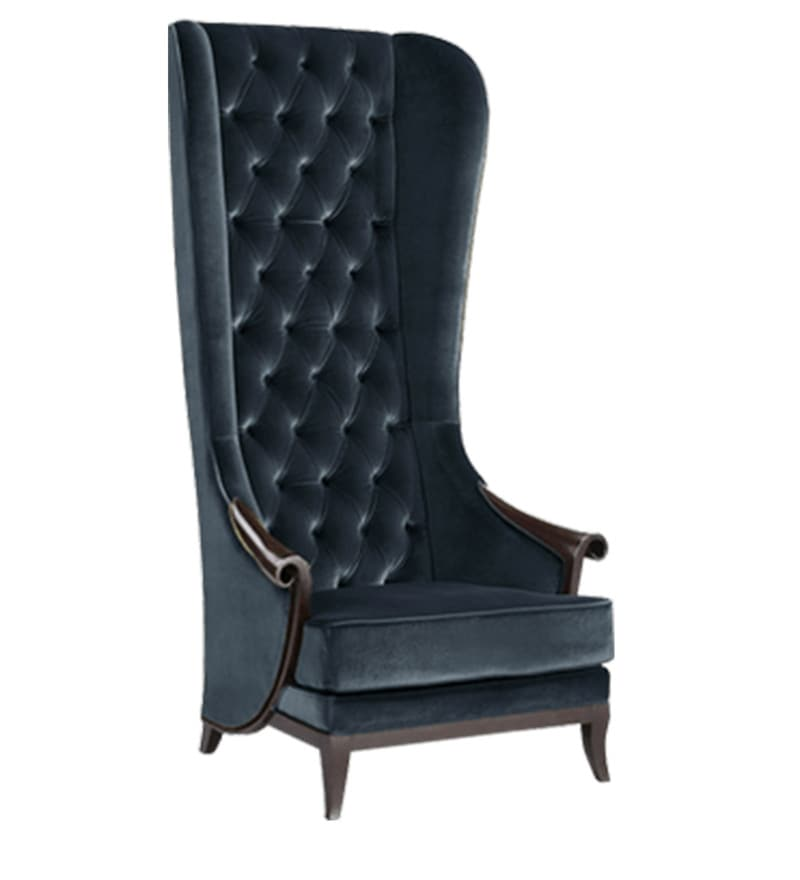 buy high back wing chair in black color by afydecor online wing chairs wing chairs pepperfry
