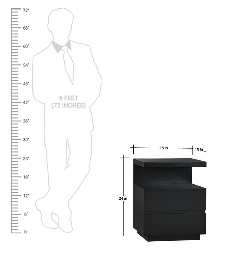 Short Bedside Table copenhagen short black bedside tablemudramark online - bedside