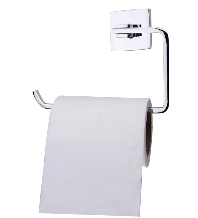 KRM Decor Coral Coral Silver Brass 8.3 x 2.4 x 4.3 Inch Toilet Paper Holder