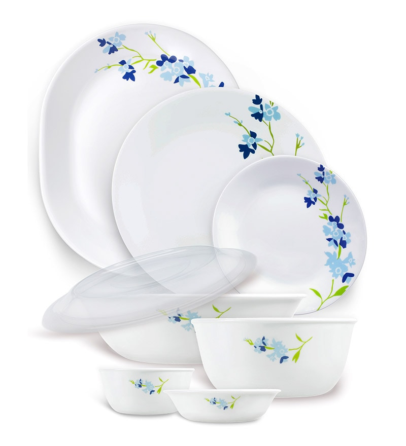 Click to Zoom In/Out  sc 1 st  Pepperfry & Buy India Collection Blue Blossom 30 Pcs Dinner Set by Corelle ...