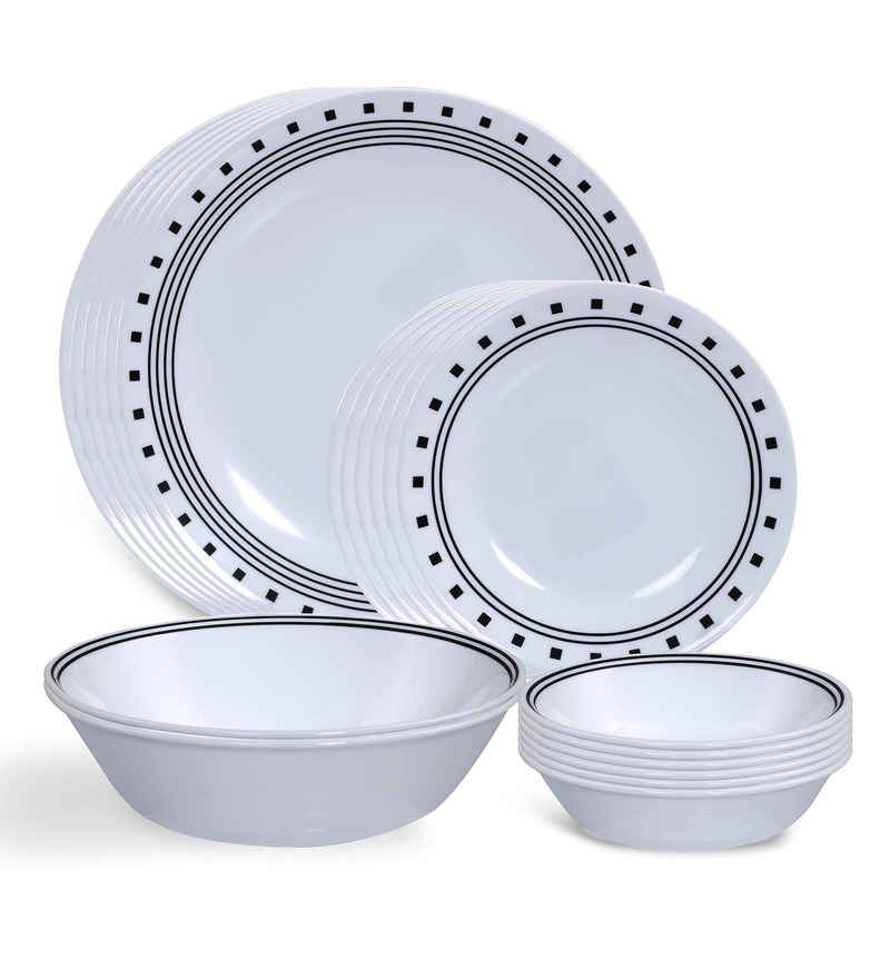 India Impressions City Block 20 Pcs Dinner Set by Corelle