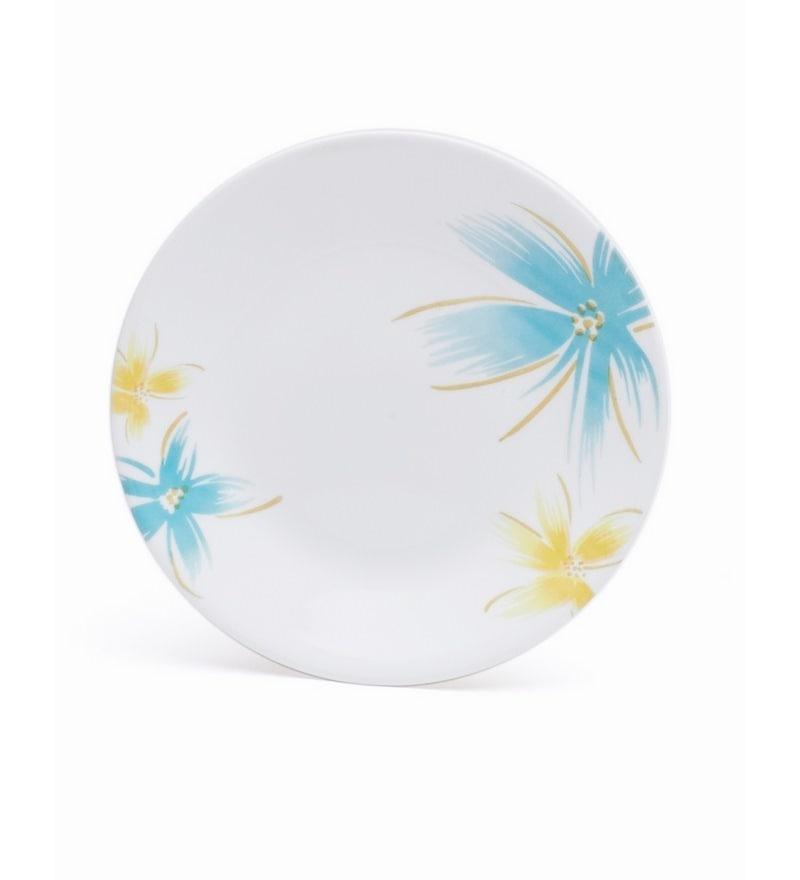 Corelle India Impressions Hawaiian Vitrelle Glass Plate - Set of 6