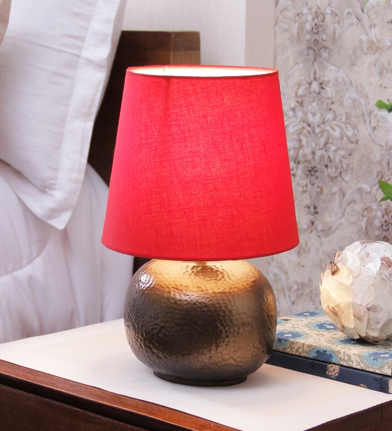 Courtyard Amber Red Lamp Shade