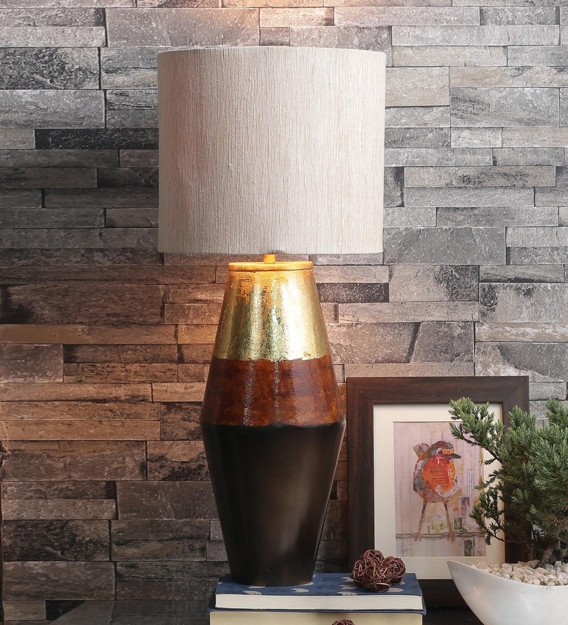Ekat Multi Color Table Lamp With Matka Silk Shade by Courtyard