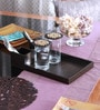 Cocktail Brown Wooden Bedside Serving Tray