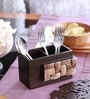 Cocktail Coco Wooden Cutlery Holder