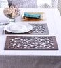 Cocktail Jaal Brown Wooden Placemats - Set of 2