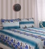 Cocobee Blue Cotton King Size Bedsheet