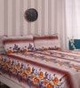 Cocobee Yellow Cotton King Size Bedsheet