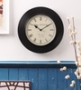 Black Wooden Wall Clock by Cocovey