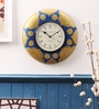 Blue & Gold Wood 12 x 12 Inch Wall Clock by Cocovey