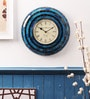 Blue Wood & Glass 12 x 12 Inch Wall Clock by Cocovey