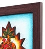 Canvas 10 x 2 x 10 Inch Textured Paglya Art Framed Rajasthani Style Phad Painting by Cocovey