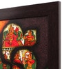 Cocovey Canvas 16 x 2 x 16 Inch Ganesh Style Paglya Art Framed Rajasthani Style Phad Painting