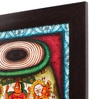 Cocovey Canvas 16 x 2 x 16 Inch Tabla Style Handmade Framed Rajasthani Style Phad Painting