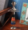 Cocovey Silver Wood & Metal Tribal Assorted Design Musicia Showpiece