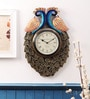 Multicolor Wood & Metal 12 x 18 Inch Ethnic Wall Clock by Cocovey