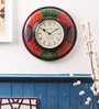 Cocovey Multicolor Wooden 12 x 12 Inch Ethnic Wall Clock