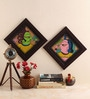 Multicolour Canvas Textured Paglya Art Phad Painting Collage by Cocovey
