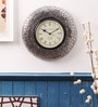 Cocovey Silver Steel 12 x 12 Inch Wall Clock