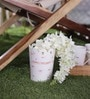 Color Palette White and Orange Vintage Planter