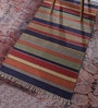 Multicolour Cotton 48 x 30 Inch Stripe Shuttle Area Rug by Contrast Living