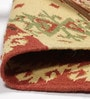 Multicolour Wool & Cotton 36 x 24 Inch Hand Woven Nikunj Dhurrie by Contrast Living