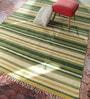 Contrast Living Multicolour Cotton 36 x 24 Inch Stripe Nikunj Hand Woven Dhurrie