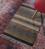 Contrast Living Multicolour Cotton 36 x 24 Inch Stripe Shuttle Area Rug