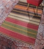 Multicolour Cotton 48 x 72 Inch Hand Woven Stripe Punja Dhurrie by Contrast Living