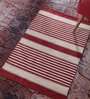 Contrast Living Multicolour Cotton 48 x 72 Inch Stripe Shuttle Geometric Area Rug