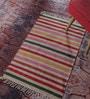 Contrast Living Multicolour Cotton 78 x 48 Inch Stripe Shuttle Area Rug