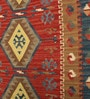 Multicolour Wool & Cotton 72 x 48 Inch Printed Dhurrie 78 x 54 Inch Printed Dhurrie by Contrast Living