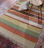 Contrast Living Multicolour Wool & Cotton 144 x 48 Inch Over Dye Area Rug
