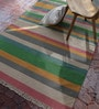 Contrast Living Multicolour Wool & Cotton 78 x 54 Inch Kilim Ethnic Area Rug