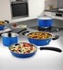 Heavy Blue Stainless Steel 3-Piece Cookware Set by Cookaid Elite