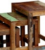 Zac Set of Tables in Distress Finish by Bohemiana
