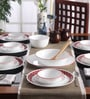 Livingware Crimson Trellis Vitrelle Glass Dinner Set - Set of 21 by Corelle