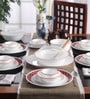 Livingware Crimson Trellis Vitrelle Glass Dinner Set - Set of 30 by Corelle