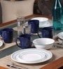 Corelle Folk Stitch 16-Piece Dinner Set
