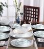 Livingware Ocean Blues Vitrelle Glass Dinner Set - Set of 30 by Corelle