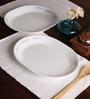 Corelle Melody Vitrelle Glass Oval Serving Platter - Set of 2