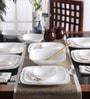Corelle Square Round Livingware Cherry Blossom Vitrelle Glass Dinner Set - Set of 21