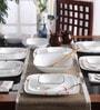 Square Round Livingware Fine Lines Vitrelle Glass Dinner Set - Set of 21 by Corelle