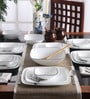 Square Round Livingware Timber Shadow Vitrelle Glass Dinner Set - Set of 21 by Corelle